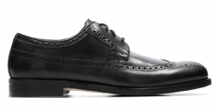 Clarks Mens Coling Limit Brogue Black Leather Shoes
